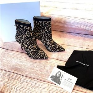 Something Navy: leopard Knix booties size 7